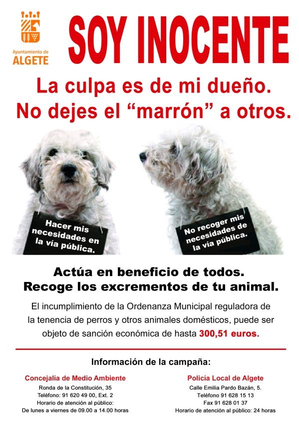 Campaña concienciación tenencia animales Algete A4
